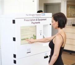 Prescription payment kiosk at NHS Hospital