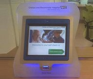 Self check in used in a hospital