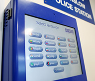 Translation kiosk used at Metropolitan Police