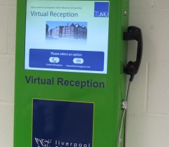 automated self service virtual reception system