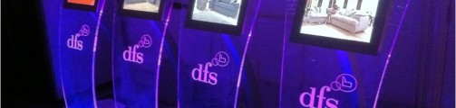 DFS interactive kiosks on display