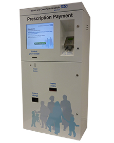 Payment Prescription Kiosk at the NHS
