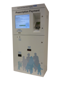 Kiosk used in the NHS for taking payment