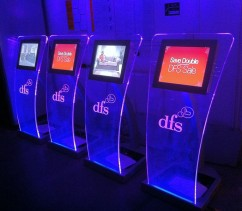 DFS retail kiosks in store