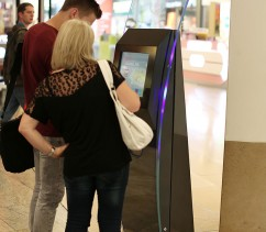 Information Kiosks being used in shopping centre