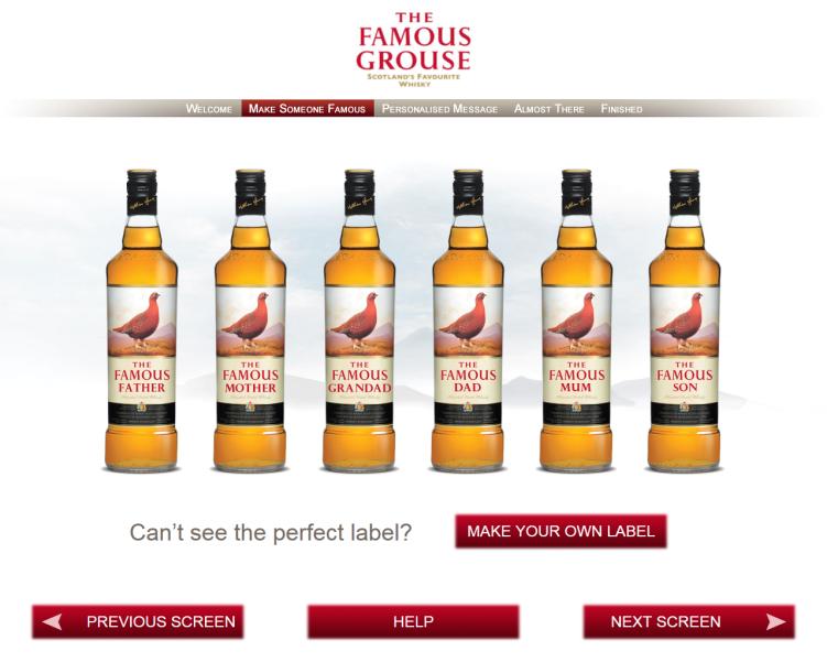 The Famous Grouse Custom Labeled Bottles
