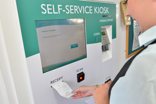 Council Payment Kiosk Giving Receipt